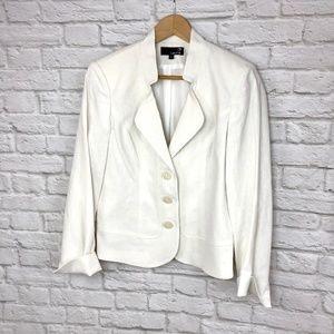 White Laura Blazer Size 8